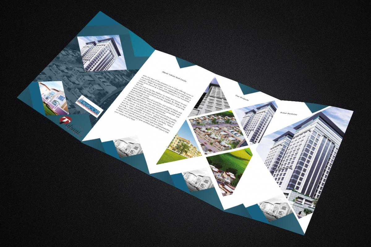 brochure printing and design - brochures designing printing company dubai epic creative